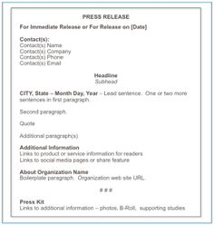 email press release template