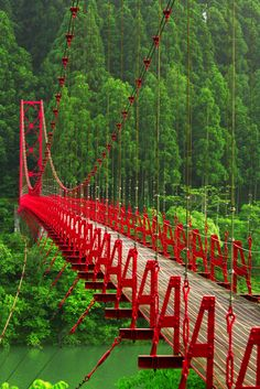 Red Japanese Bridge