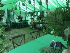 Jurassic World / Dinosaurs Birthday Party Ideas Safari Theme Birthday, Birthday Party At Park, Dinosaur Birthday Party, Safari Party, Birthday Party Themes, 5th Birthday, Birthday Ideas, Park Party Decorations, Dinosaur Party Decorations