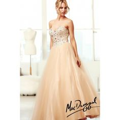 Champagne Sweetheart Ball Gown Prom Dress With Beaded Corset Bodice