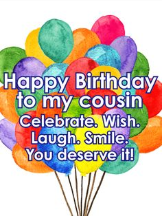 Free happy birthday brother graphics yahoo image search results send free bright color birthday balloon card for cousin to loved ones on birthday greeting cards by davia its free and you also can use your own m4hsunfo