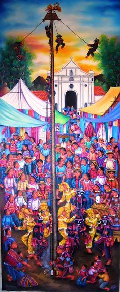 David Rodriguez Blog: LORENZO Y PEDRO ARNOLDO CRUZ SUNU - PINTORES GUATEMALTECOS