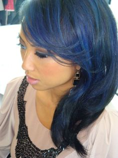 I <3 Jeannie Mai and want hair like this, maybe a tad less blue