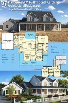 Texas Farm House Plan | 3,112 square foot (4 Bedroom) version ...