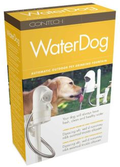 Amazon.com: Contech 300000408 WaterDog Automatic Outdoor Pet Drinking Fountain (Discontinued by Manufacturer): Patio, Lawn & Garden
