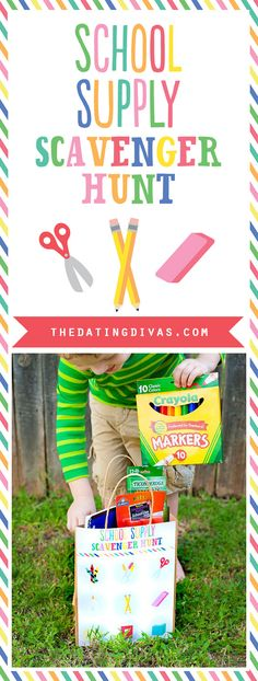 Cute back to school game! Free printables and more from The Dating Divas!!-  What a fun and easy way to get the kids excited for back to school.  Gotta buy them anyway, might as well make it fun.