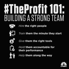 Marcus Lemonis shares how to build a strong team around you: TRAIN them the minute they start GIVE them the right tools HOLD them accountable for their performance HELP them along the way