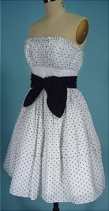 """90's Betsey Johnson cotton strapless sundress"""