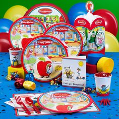 Busytown birthday party theme
