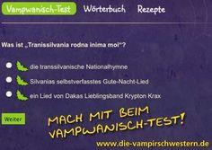 Mach mit beim Vampwanisch-Test!