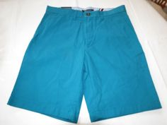 """Men's Tommy Hilfiger 29 9"""" Inseam shorts 588 teal 78B5064 casual TH #TommyHilfiger #shorts"""