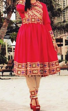 #red #afghani #cloths
