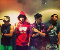 I like how the crew looks away and there's Austin, just looking right into the camera.