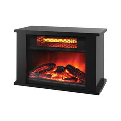 Lifezone 750 Watts Table Top Infrared Heater with Fireplace Display
