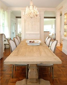 Simple European country dining room.