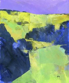 Paul Bailey - Uphill/Acrylic on paper/11 x 13 inches/2014https://www.etsy.com/uk/listing/189423119/semi-abstract-landscape-original