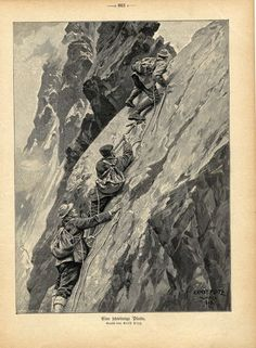 Montagne_12 Alpine Climbing, Mountain Climbing, Rock Climbing, Illustration Mode, Fashion Illustration Sketches, Mode Collage, Lost In Life, Dog Comics, Escalade