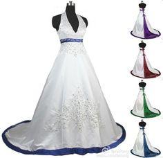 2014 New Custom Make White/Ivory Halter Wedding Dress Bridal Gown Plus Size
