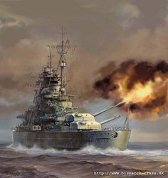 Battleships were a symbol of naval dominance and national might, and for decades the battleship was a major factor in both diplomacy and military Military Art, Military History, Poder Naval, Hms Prince Of Wales, Ship Paintings, Boat Painting, Nautical Art, Navy Ships, Ship Art