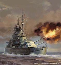 warship art | Artist: © Grzegorz Nawrocki. Many original paintings of the warships ...