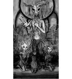 Tarot Card Art Print of The Devil Card 8x10 Print  by treetalker, $18.00