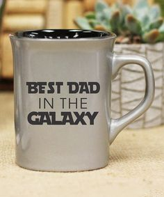 Stamp Out Online Silver Best Dad in the Galaxy Personalized Mug | zulily