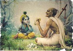 krishna listening song from his devotee