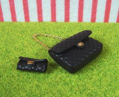 2008 Re-ment Dollhouse Miniature Handbag Purse Clutch Bag Boot Shoe Hat Barbie