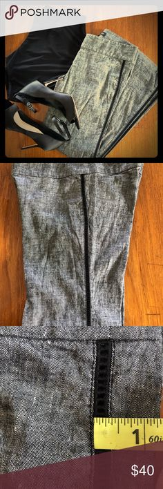 """bebe linen pants 💕 Inseam 29.5"""" See through black strip on the side of the legs runs from the top to the bottom of the pants  63% linen 35% viscose  2% spandex bebe Pants Trousers"""