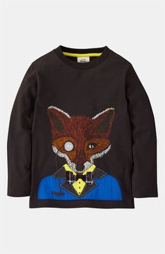 Mini Boden 'Winter Animal' T-Shirt (Little Boys & Big Boys) - ShopStyle Mini Boden, Cute Boy Outfits, Kids Outfits, Big Boys, Little Boys, Fox Shirt, Nordstrom, Kid Styles, Winter Looks
