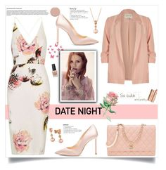 """""""Hot Date Night Style"""" by southindianmakeup1990 ❤ liked on Polyvore featuring River Island, Jimmy Choo, DuÅ¡an, Chanel, LE VIAN, Christian Louboutin and OPI"""