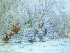 The Frost, 1885 by Claude Monet. Impressionism. landscape