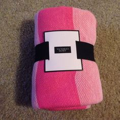 Victoria's Secret Beach Blanket Never used, perfect condition! NWT! Measurements are depicted in the picture above :) pink and light pink in color Victoria's Secret Accessories