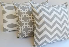 3 gray throw pillow covers $48