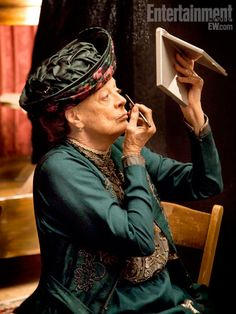 ....Maggie Smith is so perfect for her downtown abbey character, Violet Dowger Countess of Grantham.. Cannot wait for its next season.