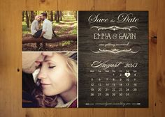 Save The Date Magnet or Card . Vintage Calendar on Etsy, $32.17 CAD