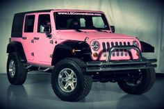 When I have a JOB job, a pink jeep is the first thing on my list. Want one so bad