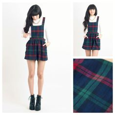 Todays Fashion Fix: Tartan Pinafore Playsuit... <3
