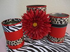 Set+of+3+ANIMAL+PRINT+DECORATIVE+Buckets/Tins+by+partiesgalore,+$10.00