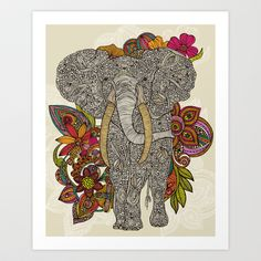 Walking in paradise Art Print by Valentina - $18.00