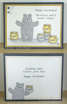 bear hugs stampin up | fun watercolor birthday card using Stampin Up Bear Hugs & Party With ...