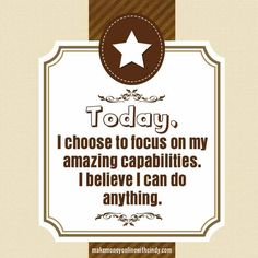 Affirmation can bring about the change in or attitude and how we manifest success!
