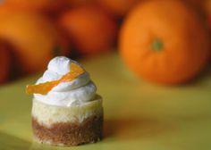 Mini Orange Cheesecakes with Grand Marnier Cream from Pinch My Salt