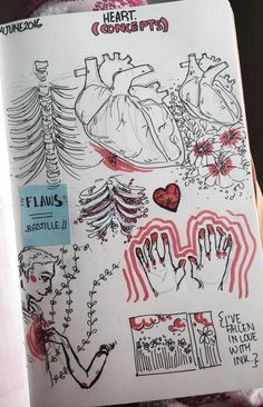 Sketch Book some weird aesthetics bc we're studying about the heart and stuff in bio and wanted to draw some human anatomy ? Cool Art Drawings, Art Drawings Sketches, Drawing Art, Weird Drawings, Weird Art, Indie Drawings, Dark Drawings, Music Drawings, Aesthetic Art