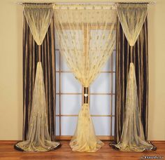 Great tips for Curtains in the Empire style   #curtains #2015