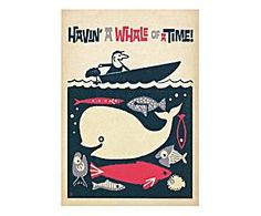 Stampa su carta havin' a whale of a time - 42x60 cm