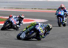 Jorge Lorenzo compite en MotoGP en el Gran Premio de San Marino.