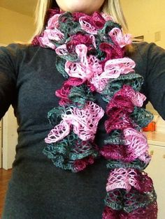 Hand knitted sashay scarves by KraftyKatie1135 on Etsy, $20.00