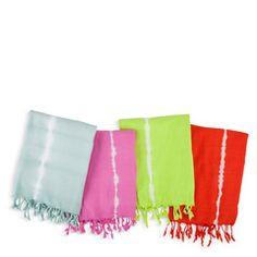 tie-dye turkish towel neon bath towel accessory
