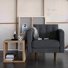 N101 Armchair Grey Ash   ETHNICRAFT   DomésticoShop